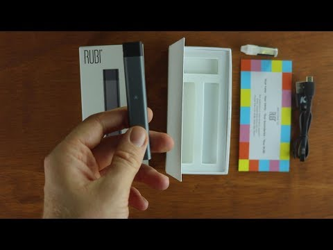 KandyPens Rubi refillable cartridge vaporizer Unboxing & how to fill vape pod