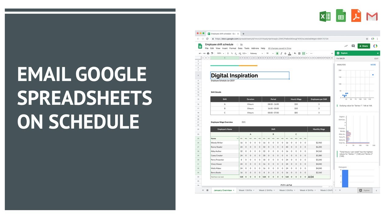 Convert and Email Google Spreadsheets as PDF Files