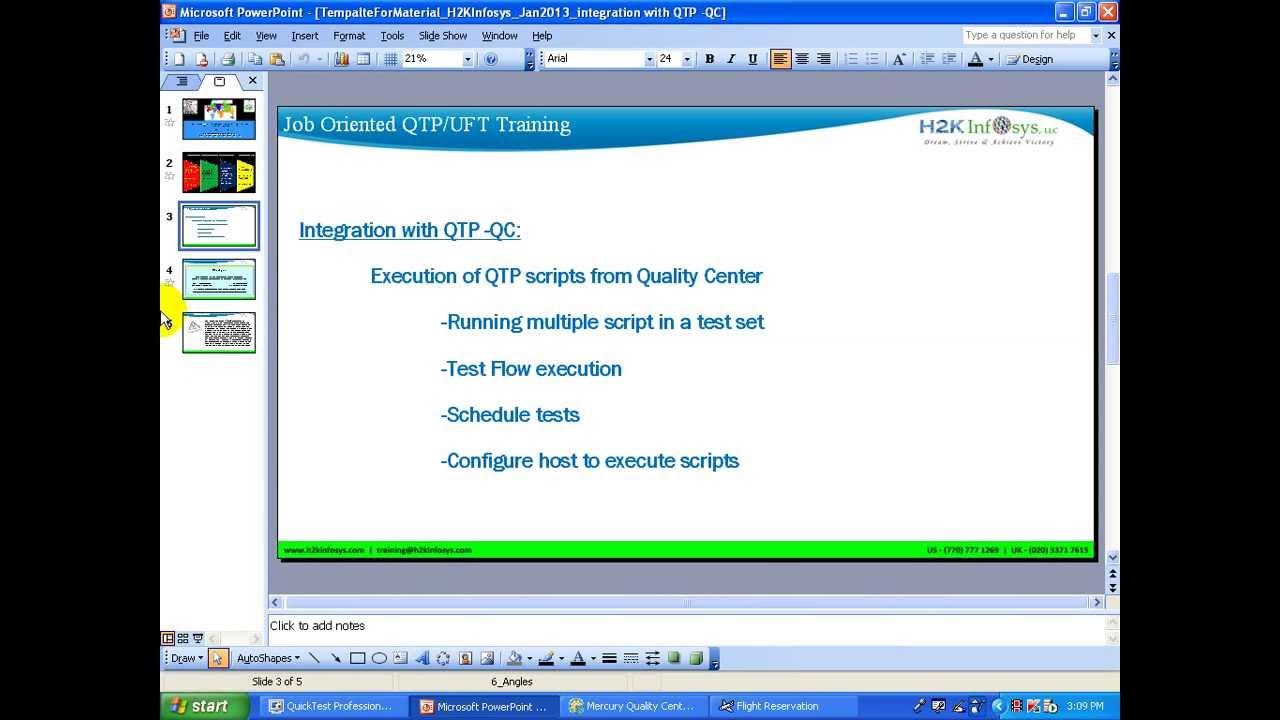 HP QTP Tutorial 1  HP UFT Tutorial 1   QC and QTP integration  HP ALM   H2KInfosys