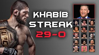 khabib Streak\x27s 29-0 khabib all fights highlights   Tribute to Khabib By TopNewsage