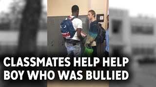 Classmates step in to help boy bullied over his clothes