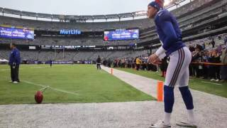 Giants kicker Robbie Gould pregame ritual
