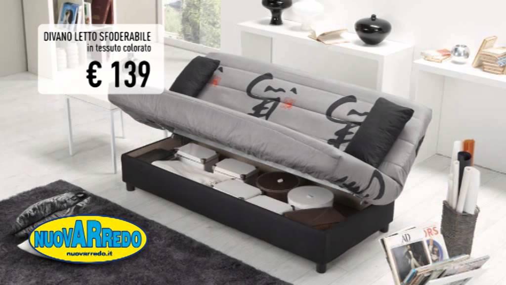 Tanti prodotti per la tua casa dal letto ai divani. Nuovarredo Divano Letto Sfoderabile Youtube