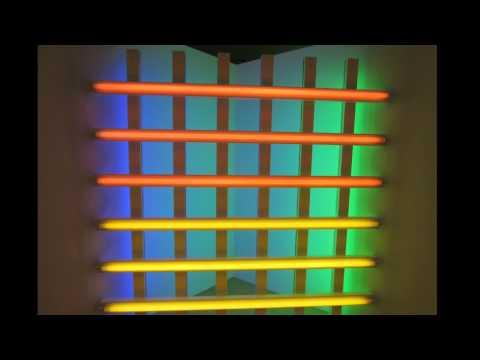 "2MinTour: The Dan Flavin Art Institute ""Nine Sculptures in Fluorescent Light 1963-81"""