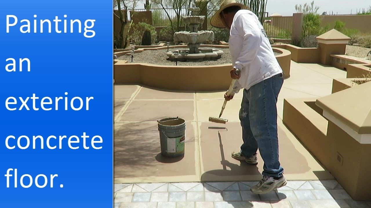 Painting Exterior Concrete Patio.   YouTube