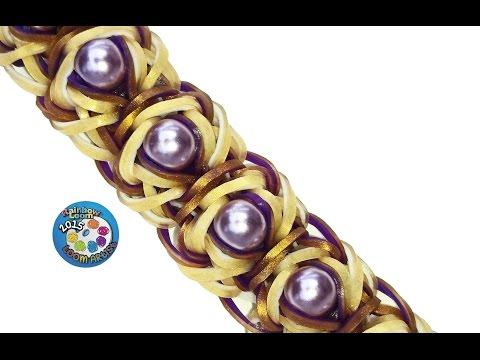 "Rainbow Loom Bracelet ""JuJu"" (Original Design) (ref #3Sww)"