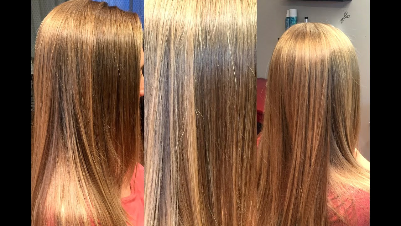 How To Do Balayage Ombre Highlights With A Blur Bush Blonde On