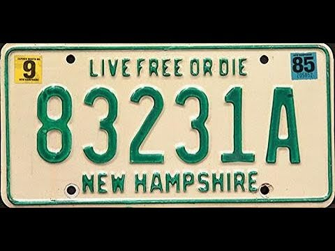 """Live Free Or Die"" License Plates Speak For New Hampshire"
