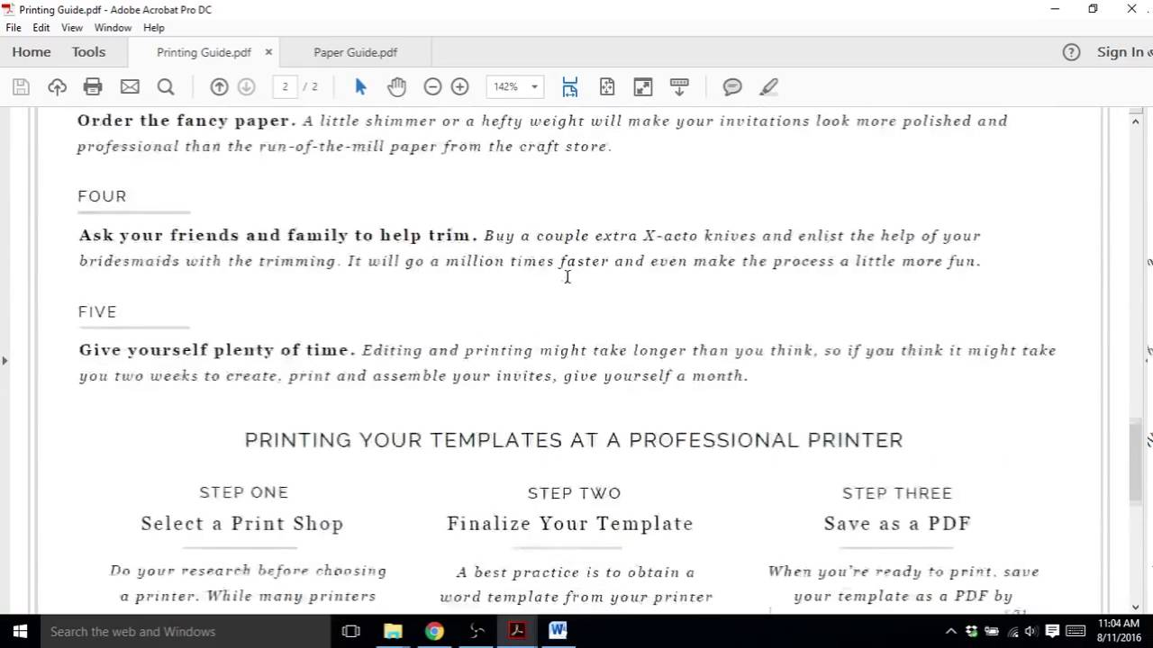 How to Print Your Wedding Invitations - YouTube