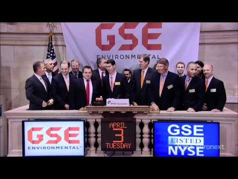 GSE Holding Celebrates Recent IPO rings the NYSE Closing Bell