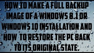 How To Make A Bootable Image FileTo Recovery Windows Using Usb Stick Drive Video