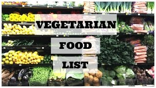 Vegetarian/vegan shopping list! | Beginners ed.
