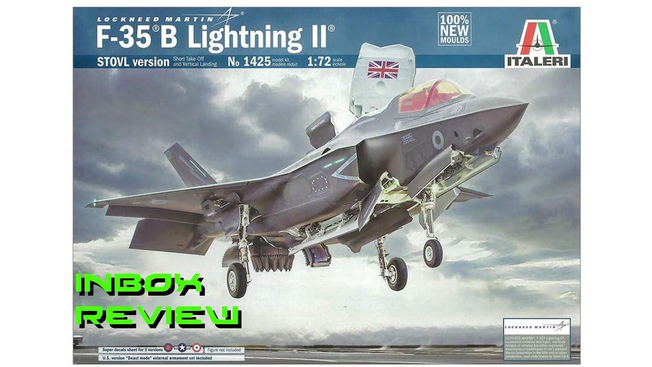 Inbox Review Italeri 1/72 F-35B Lightning II