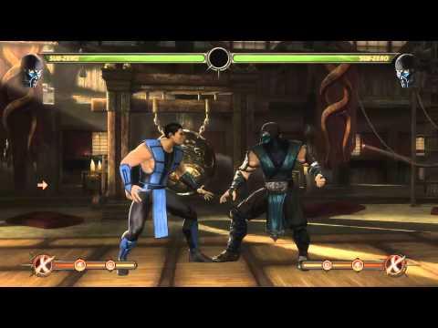 Mortal Kombat 9 - Sub - Zero обучение + комбо
