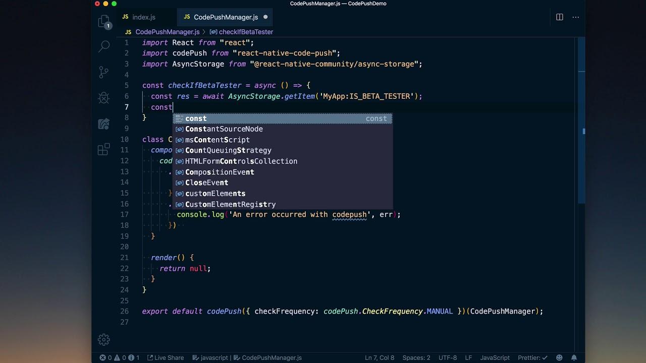 CodePush Strategy for Beta Testing