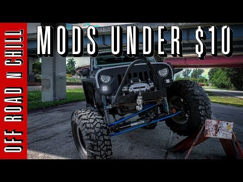 3 Jeep Wrangler Mods under $10 / Cheap Jeep Mods / Easy Jeep JK Mods