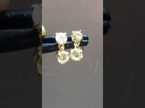 Dangle diamond earrings R7810
