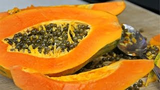Papaya 101 - How To Shop For, Slice, Peel, Seed And Tell When A Papaya Is Ripe