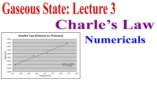 Gaseous State Lecture 3 Charle s Law Graph and Numericals