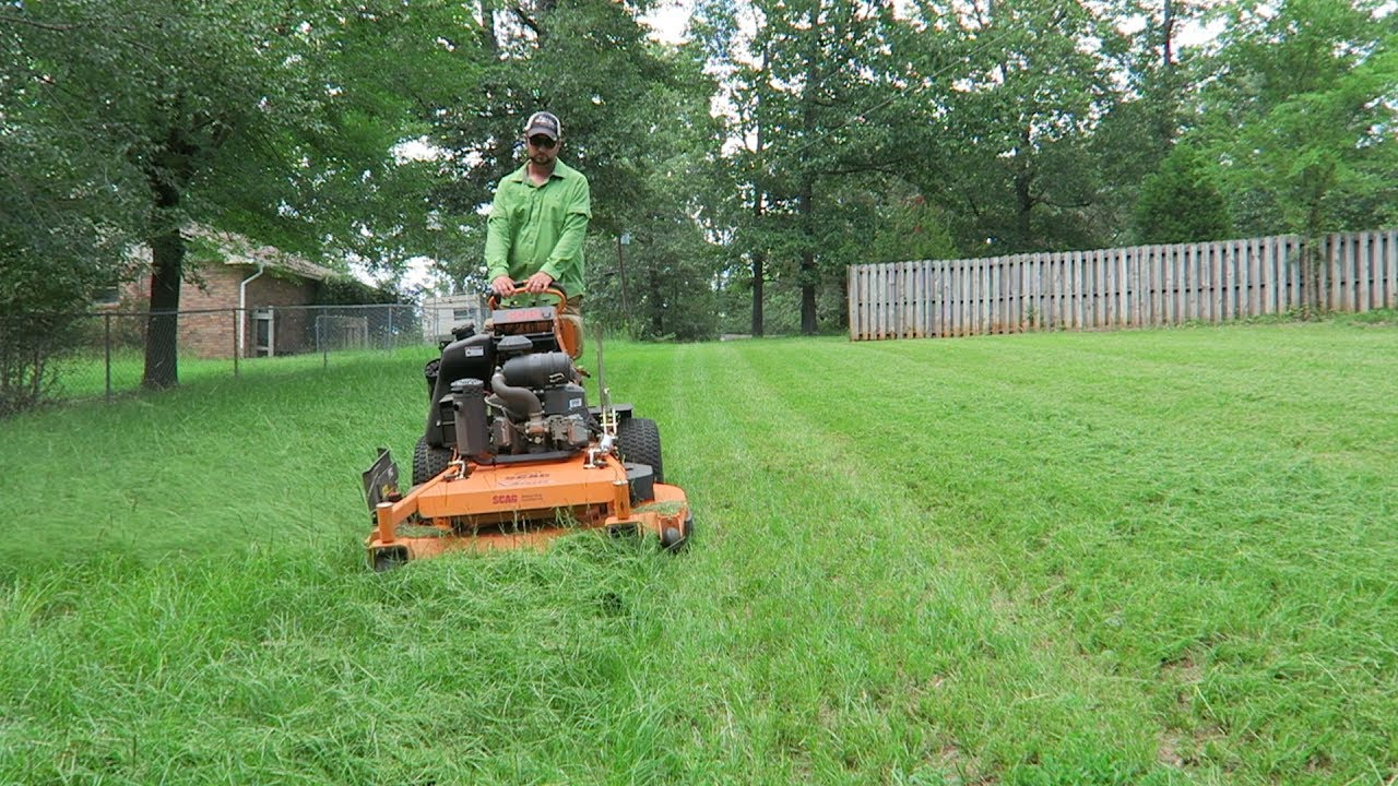 Tall Grass Yard Clean Up Lawn Care Scag Vride Youtube