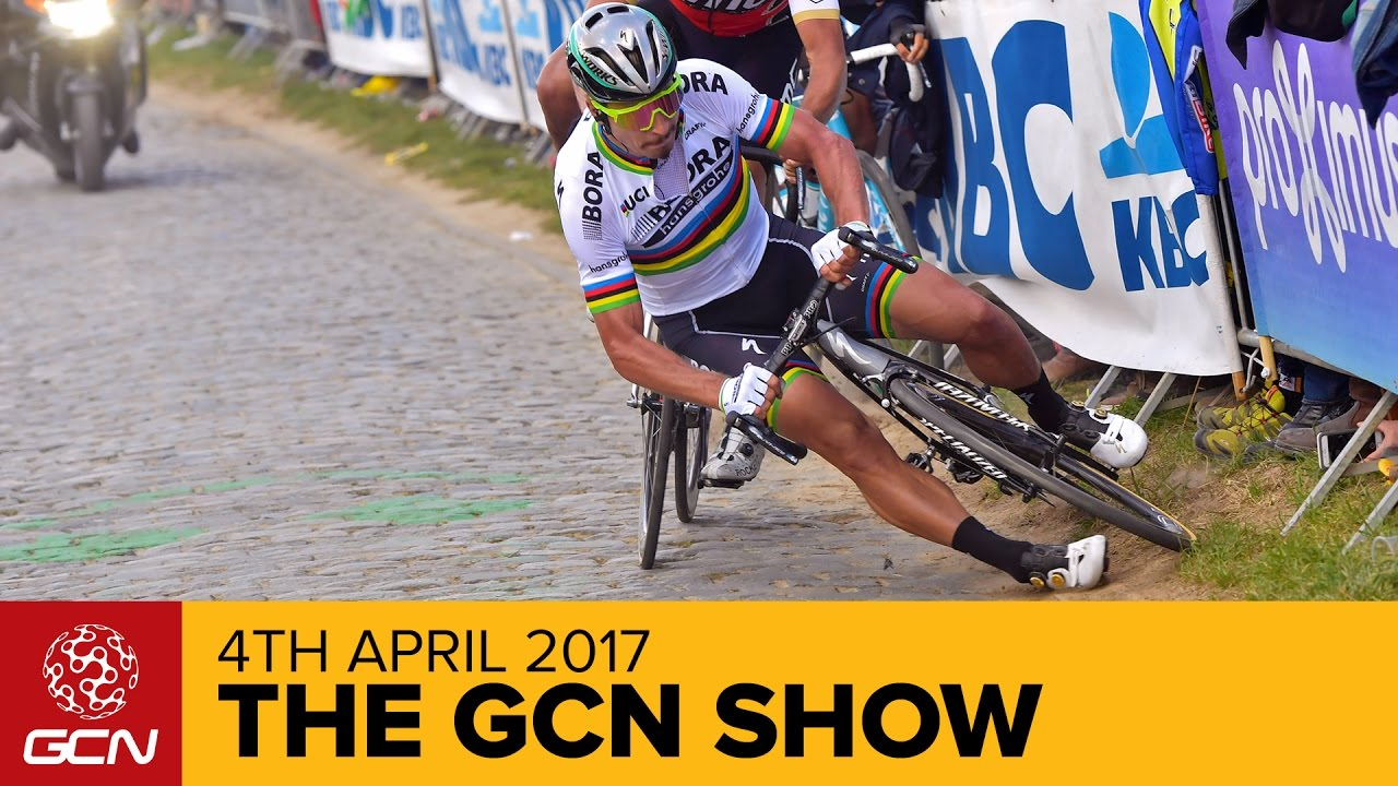 a0c632f28 How Did Peter Sagan Crash At The Tour Of Flanders? | The GCN Show Ep. 221