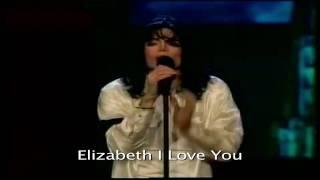 Michael Jackson Live - Elizabeth I Love You Lyrics and Video