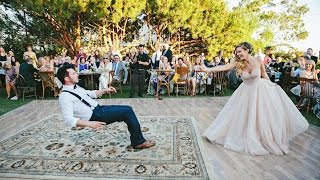 Bride puts a spell on her magician groom during first dance(Magician Justin Willman gets levitated by his photographer bride Jillian Sipkins in their first dance on Sept. 6, 2015 in Malibu, California. (WATCH TIL THE END!), 2015-09-10T22:09:24.000Z)