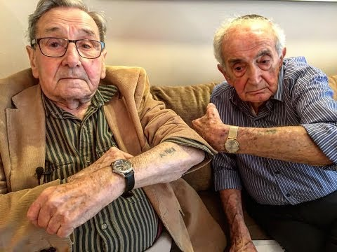 Amazing Story: Auschwitz Prisoners in 1944 w/Tattoos 10 Numbers Apart Meet For First Time 6/4/17