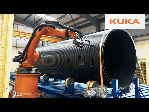 Gigantic Plastic Pipes Milled with KUKA Robots in the UK