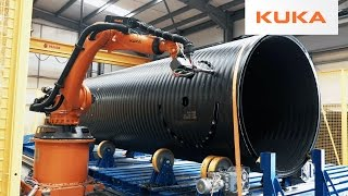 Repeat youtube video Gigantic Plastic Pipes Milled with KUKA Robots in the UK