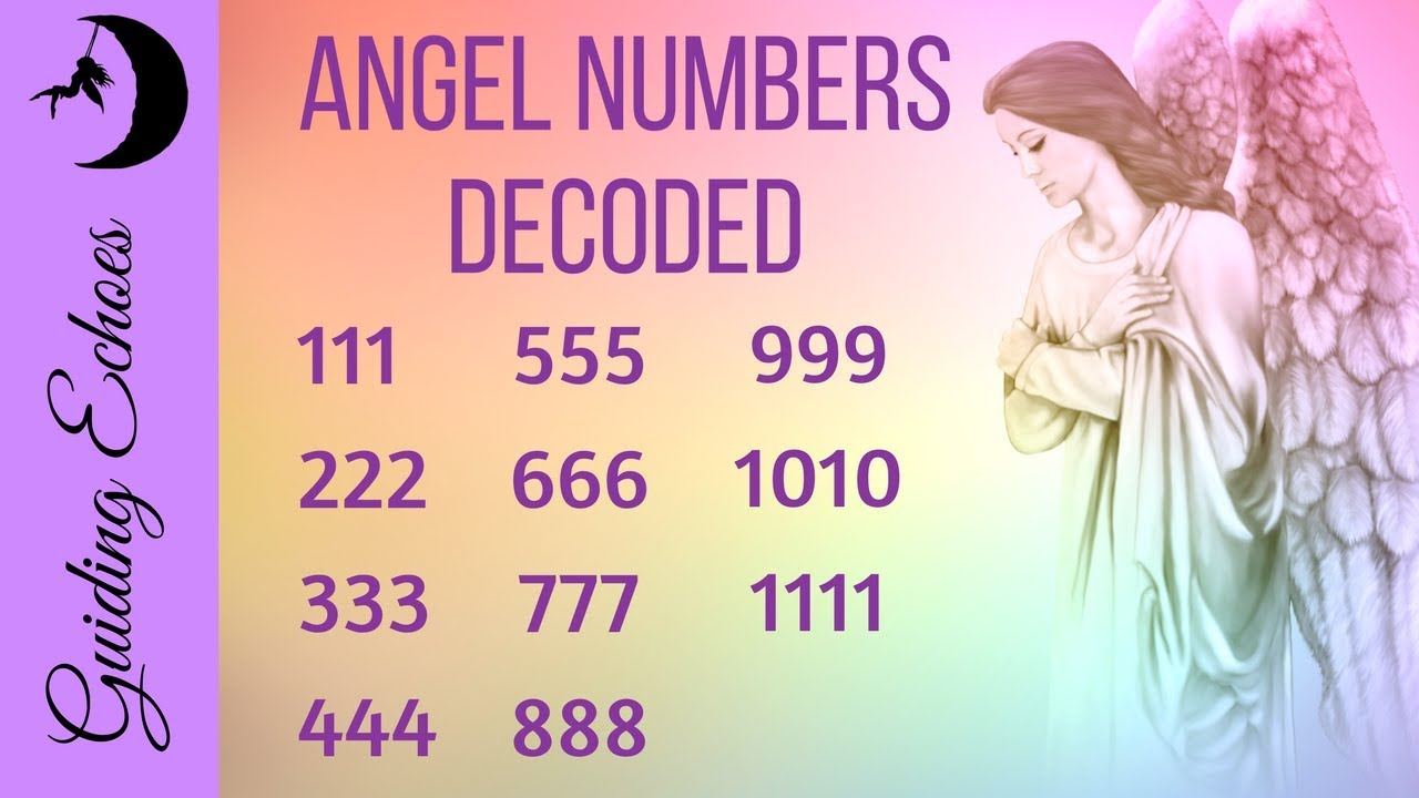 Angel Numbers 1111 777 444 And More Decoded Youtube