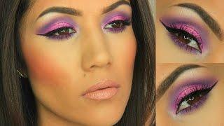 Morphe Palette : Bold Pink & Purple Cut Crease I Collab with ReynaRaeBeauty