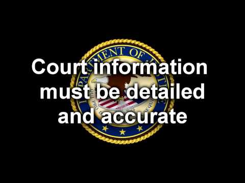 Department on Justice message