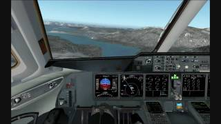 PMDG MD-11 landing at Juneau, Alaska