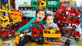 Biggest Bruder Truck Toys Collection - Garbage Trucks, Fire Engines, Cranes and Construction Toys