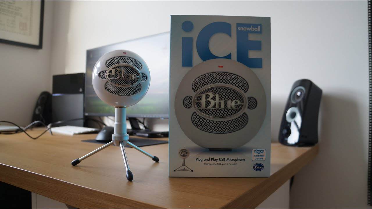 New Blue Snowball Ice Unboxing Microphone Test Youtube