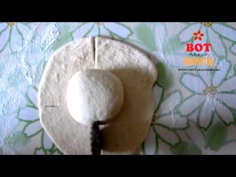 Красивые пирожки из дрожжевого теста Розочки