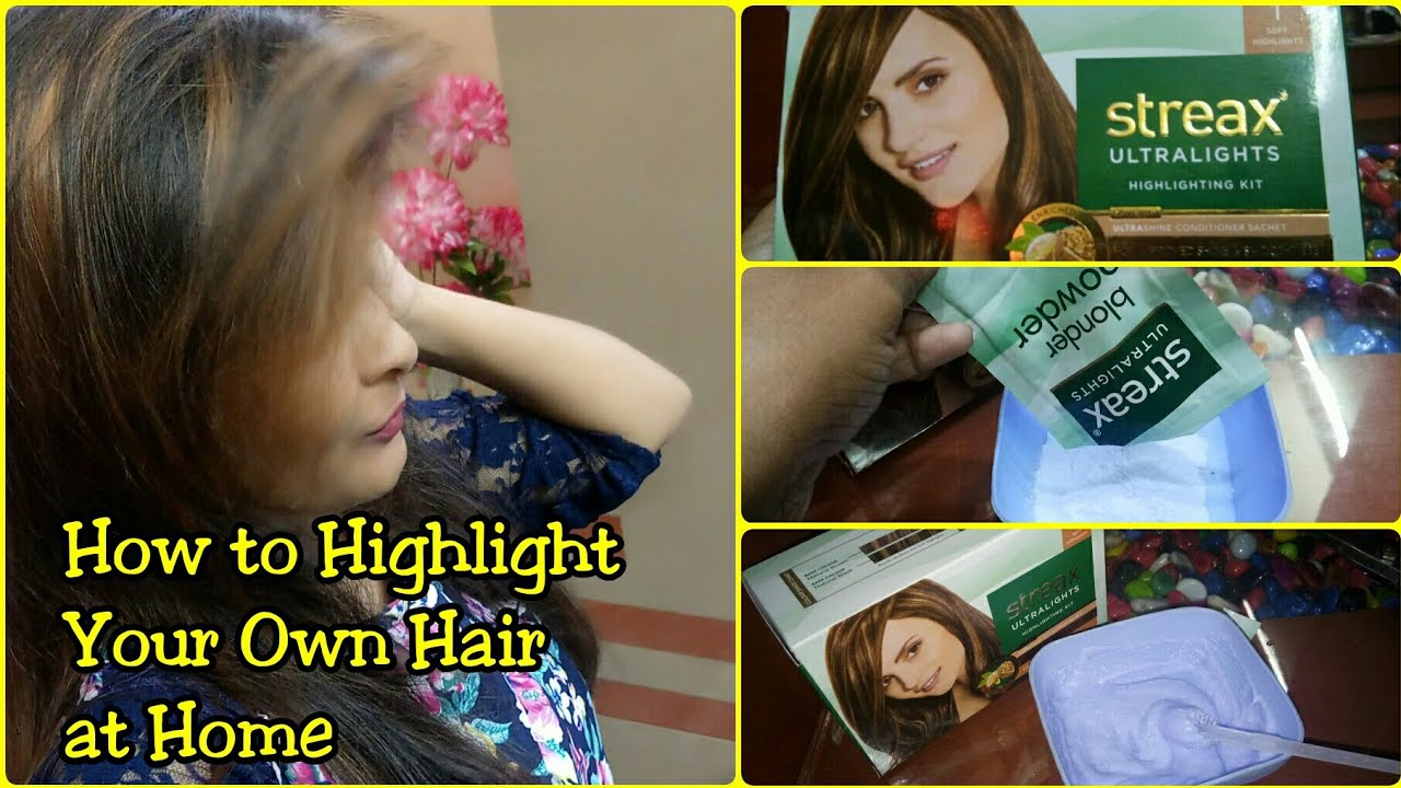 How To Highlight Your Own Hair First Time At Home Very Affordable