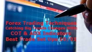 Forex Technical Analysis - Make Money with the COT & ADX Best Trade Set Ups 10/04