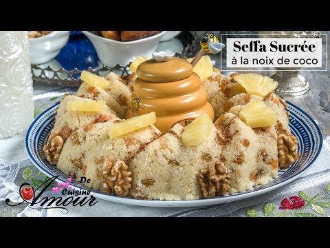 seffa-sucrée-à-la-noix-de-coco,-couscous-sucré-à-la-cannelle,-plat-de-sohour-pour-ramadan