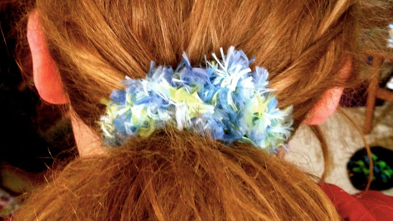 Crochet Hair Scrunchie Video : How To Make a Fun Crochet Hair Scrunchie - DIY Style Tutorial ...