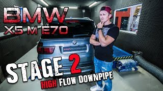 BMW X5 M E70 |  High Flow Downpipes Stage 2 | SimonMotorSport | #424
