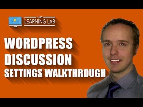WordPress Discussion Settings Walkthrough - WP Learning Lab - 동영상