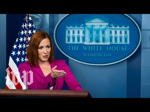 White House press secretary Jen Psaki holds news conference