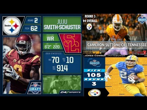 Pittsburgh Steelers || Day 2 Selections Juju Sutton Conner ||  2017 NFL Draft || **HD Quality**