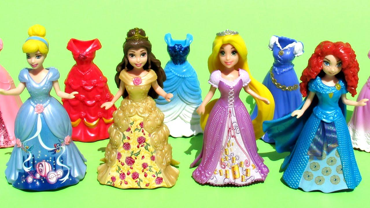 Princesas Disney Set de MagiClip Bella Rapunzel Cenicienta Mrida