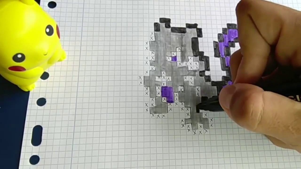 Como Dibujar A Mewtwo Pokémon Go Pixel Art