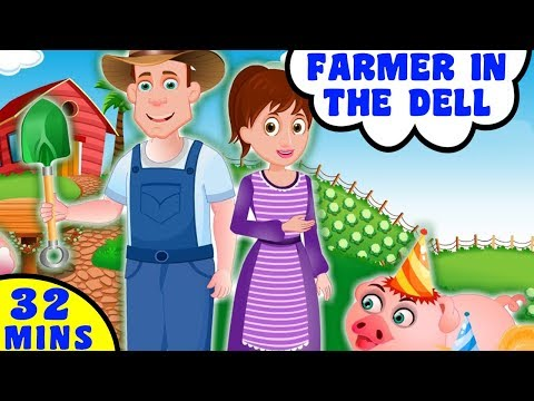 Farmer in the Dell and more Animal Songs | More Videos For Kids By Baby Hazel Nursery Rhymes