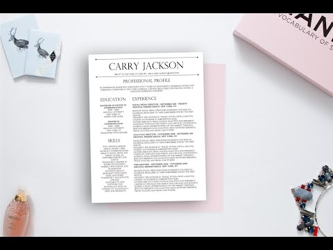 how to edit the carry jackson resume design template for microsoft    how to edit the carry jackson resume design template for microsoft word