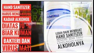 Cara membuat hand sanitizer -